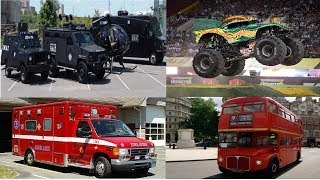 Cars and Trucks Learning Street Vehicles for Kids Police Cars Dump Truck Ambulance Transport