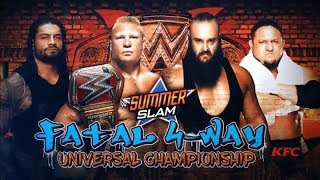 Brock Lesnar vs Roman Reigns vs Braun Stroman vs Samoa Joe [ Full match ] - Summerslam 2017