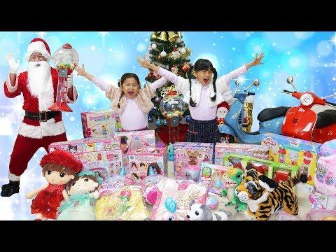 サンタさんのプレゼントは不思議なガムボール☆ガム風船からプレゼント!!himawari-CH