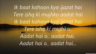 Ek Baat Kahun Kya Ijazat Hai Full Lyrics
