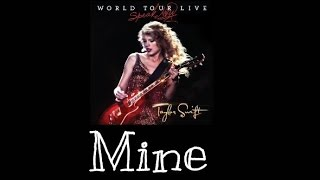 Taylor Swift - Mine (Speak Now World Tour Live) Audio Official