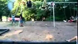 Swing Set Face Plant - Funny video