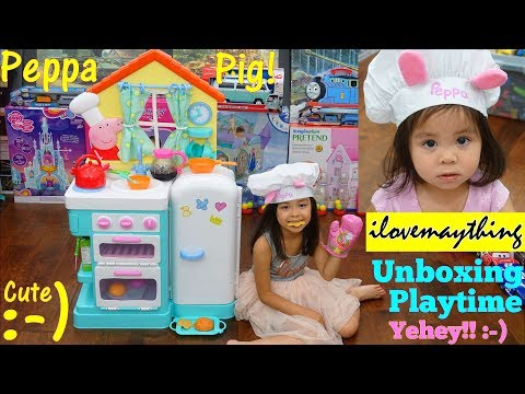 Xxx Mp4 Maya Loves Peppa Pig Peppa Pig S Kitchen Playset Unboxing And Playtime Fun Cooking Playset 3gp Sex