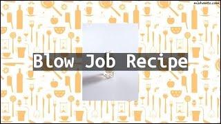 Recipe Blow Job Recipe