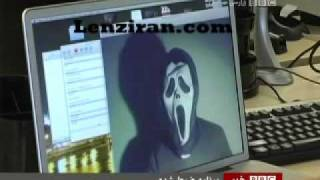 An Iranian member of anonymus hackers talk to BBC Persian TV