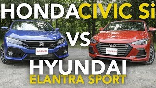 2018 Honda Civic Si vs Hyundai Elantra Sport Comparison