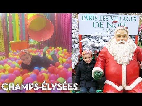 VLOG - Manèges & Attractions au Village de Noël de Paris sur les Champs-Élysées