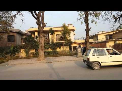 Rich peoples houses worth 4 to 10 million dollars in islamabad Pakistan / outside view.