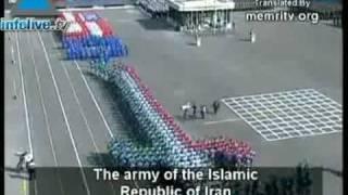 Iranian troops slash US Flag and Star of David