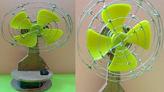 How to make a Revolving Table Fan at Home