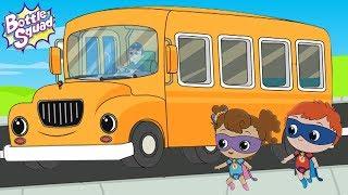 wheels on the bus Poem | Bottle Squad | Nursery Rhymes | Kids Rhymes | Baby Songs | Videos For Kids