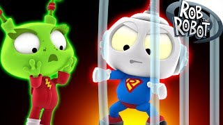 SUPER FRIENDS |  Preschool Learning Videos | Rob The Robot