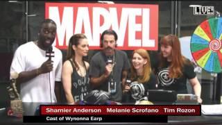 Wynonna Earp Marvel with Melanie Scrofano, Tim Rozon and Shamier Anderson