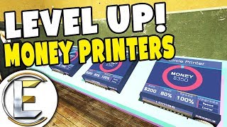 Level Up Money Printers - GMOD DarkRP (200k in 20 Minutes At Maximum Level Also We Got Raided)