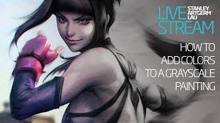 Art Tips - How to add colors to a grayscale painting