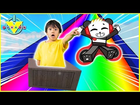 Roblox SLIDE DOWN STUFF in a Rainbow Box Let s Play with VTubers Ryan ToysReview Vs Combo Panda