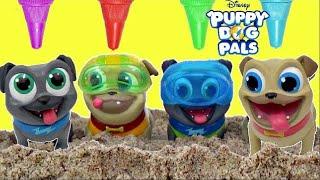 Disney Jr. PUPPY DOH PALS Treasure Hunt, Rolly, Bingo, Hissy, A.R.F. Bath Time IRL/ TUYC