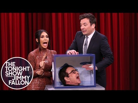 Can You Feel It Jimmy and Kim Kardashian West Freak Out Touching Mystery Objects