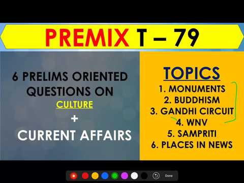 Revamped PreMix 79 Days to Prelims CULTURE Current Affairs