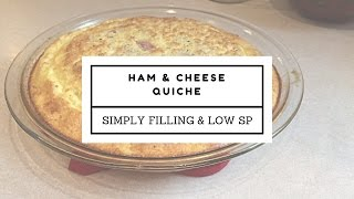 Weight Watchers Recipe   Ham & Cheese Quiche   1 - 4 SP or Simply Filling