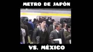 metro de japon VS  metro de mexico