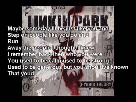 Linkin Park A Place For My Head lyrics In vid and description