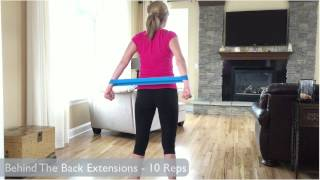 Resistance Band Loop Exercises - Upper Body Workout