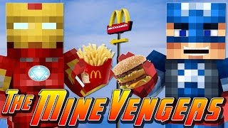 Minecraft MineVengers - VISITING MCDONALDS!!