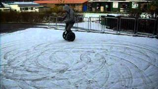 Segway Drifting on Snow and Ice