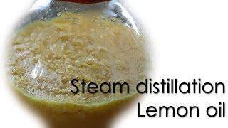 Steam distillation - Lemon essential oil