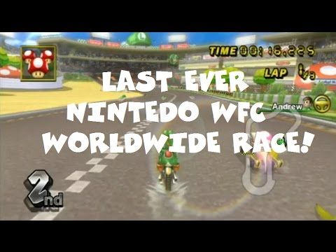 Mario Kart Wii - The Last Ever Worldwide Nintendo WFC Race!