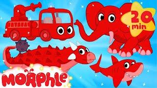 My Pet Dinosaur, Shark, Elephant and Fire Truck Animation Videos For kids!