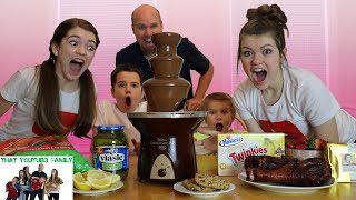 Chocolate Fondue Fountain Challenge / That YouTub3 Family