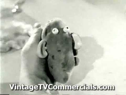 Vintage Original Mr and Mrs Potato Head commercial 1960 s
