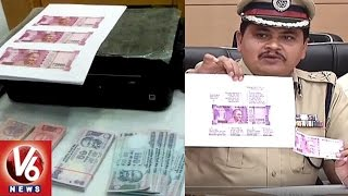 Police Busted Fake Currency Racket In Hyderabad   Six Held for Printing New Rs 2000 Notes   V6 News