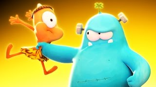Funny Animated Cartoon | Spookiz Hungry Frankie Gets Angry 스푸키즈 | Cartoon for Children