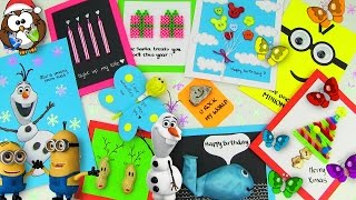 DIY Gifts! 10 Easy DIY Card Ideas (DIY Cards with Christmas Gifts, Birthday & Valentine