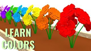 Learn Colors With Flowers Paint Cartoon 3D Children Educational Videos