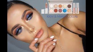 KKW & Mario Makeup | Karolin |مكياج سموكي ازرق | كارولين