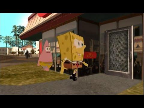 GTA San Andreas Spongebob FILM ENGLISH