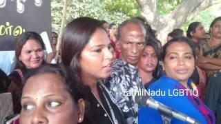 Justice for Transgender tara protest in chennai