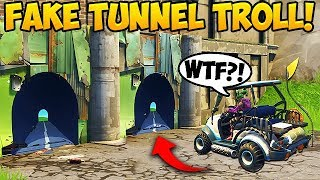 NEW FAKE TUNNEL TROLL! - Fortnite Funny Fails and WTF Moments! #266 (Daily Moments)