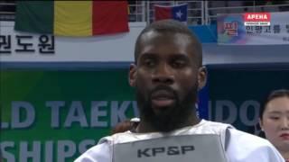 Anthony Obame GAB vs. Abdoul Issoufou NIG. Taekwondo World Championship 2017. Semifinal Men +87 kg.
