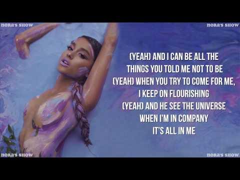 Ariana Grande God is a woman Lyric Video