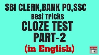 BEST TRICKS to Solve Cloze Test for SBI PO 2016, SSC-CGL Part-2 | in ENGLISH