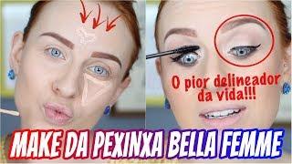 A MAQUIAGEM MAIS BARATA DESSE CANAL!!! - Bella Femme vale a pena? | #NovembroEsPRIcial 15