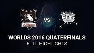ROX Tigers vs Edward Gaming Highlights All Games, S6 Worlds 2016 Quarter final, ROX vs EDG
