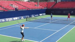 Sania Mirza in Dubai Duty Free Tennis Championship 2012 (Practice)