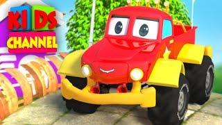 Monster Truck Cartoons for Children by Kids Channel   Cars Videos    Monster Trucks Tow Truck