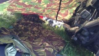 Harley Davidson Tarp Sleep Set Up